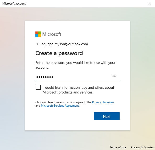 Windows 10 Family Accounts Create Password