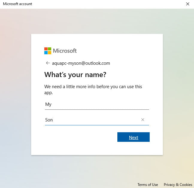 Windows 10 Family Accounts Whats Your Name?